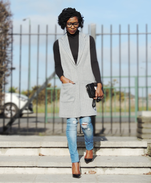 striped jersey coat